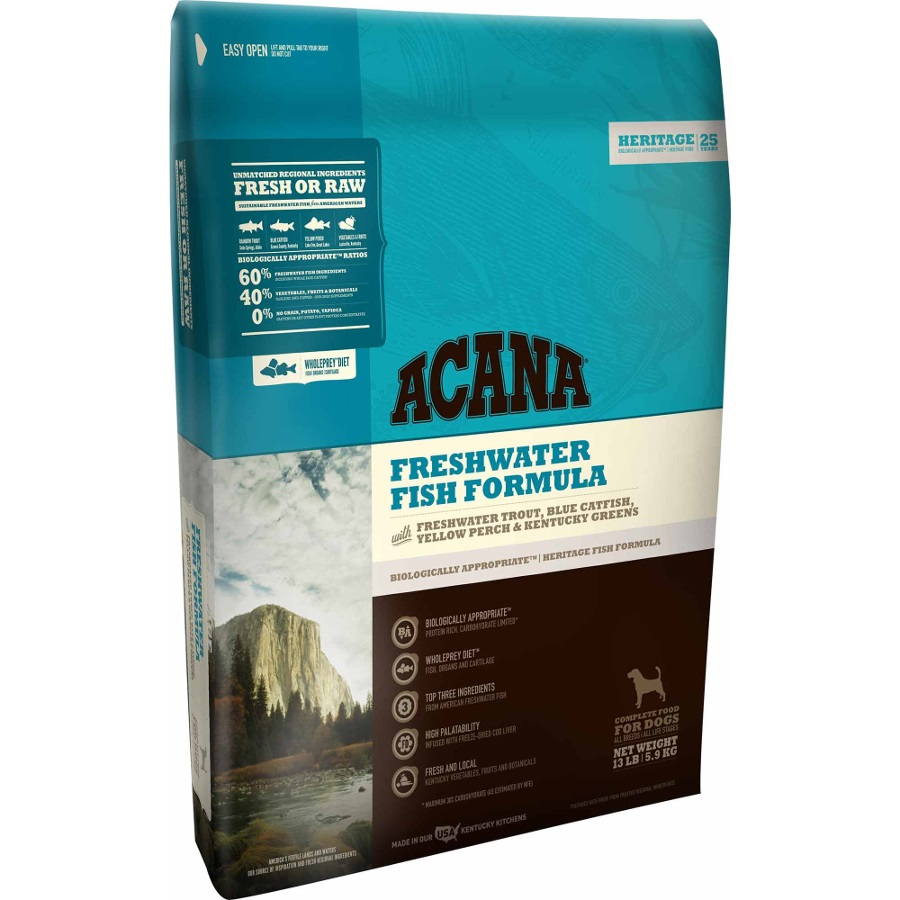 ACANA Heritage Freshwater Fish Formula Grain Free Dry Dog Food, 12-oz