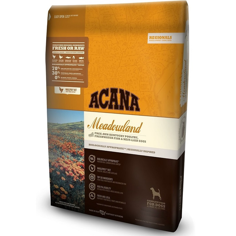 ACANA Regionals Meadowland Formula Grain Free Dry Dog Food, 4.5-lb
