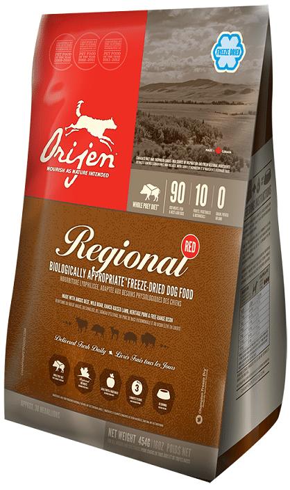 ORIJEN Regional Red Freeze Dried Dog Food, 6-oz
