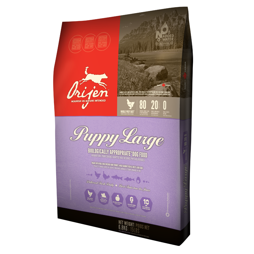 ORIJEN Puppy Large Breed Dry Dog Food, 25-lb