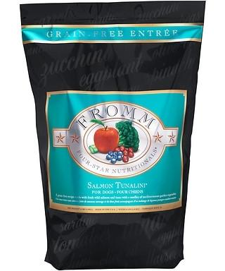Fromm Four Star Grain Free Salmon Tunalini Dry Dog Food, 4-lb