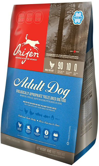 ORIJEN Adult Freeze-Dried Dog Food, 12-oz