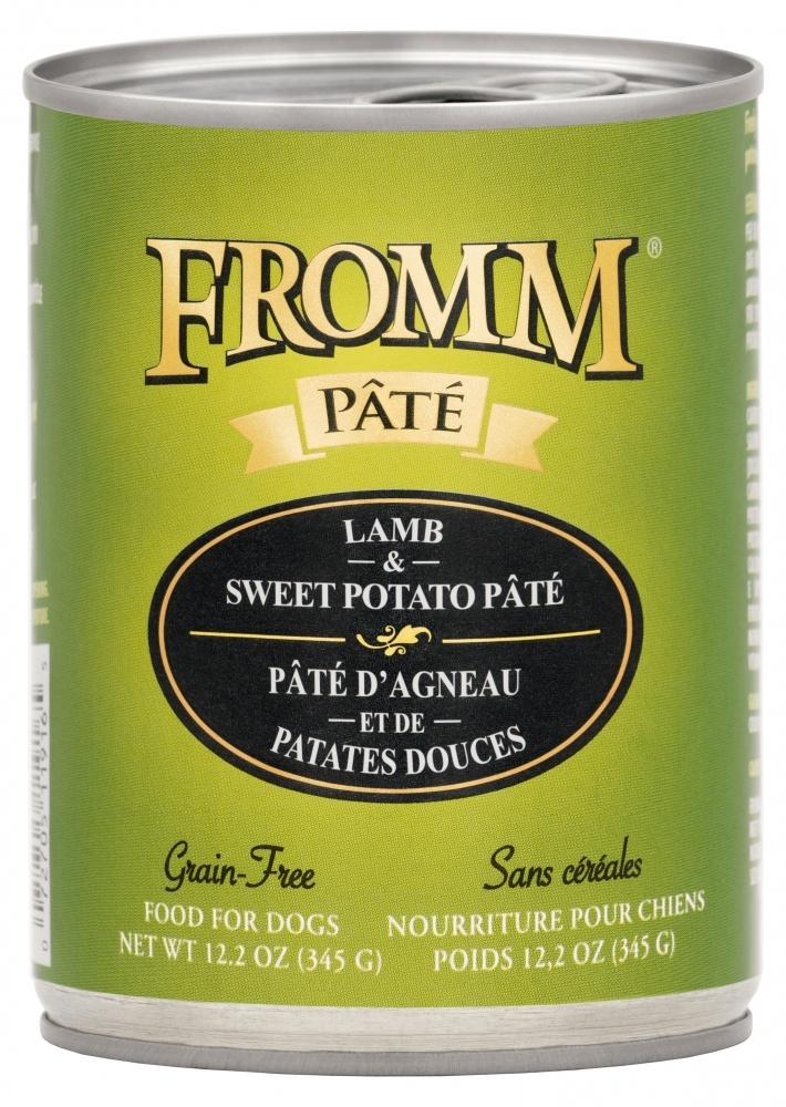 Fromm Grain Free Lamb & Sweet Potato Pate Canned Dog Food, 12.2-oz