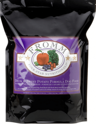 Fromm Four Star Duck and Sweet Potato Dry Dog Food, 5-lb