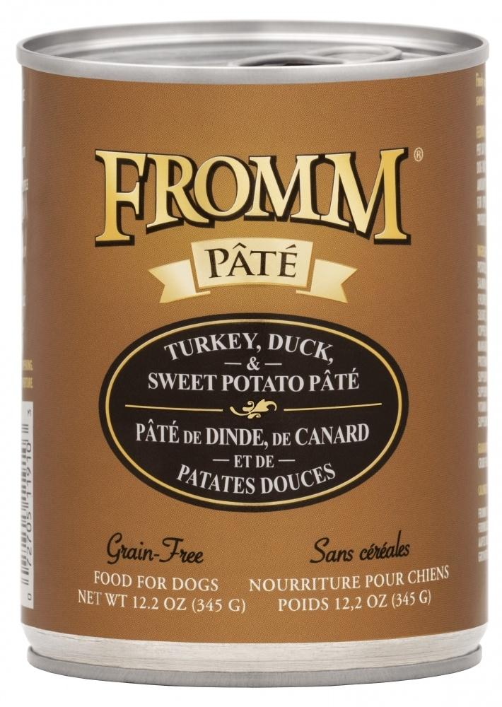 Fromm Grain Free Turkey, Duck & Sweet Potato Pate Canned Dog Food, 12.2-oz
