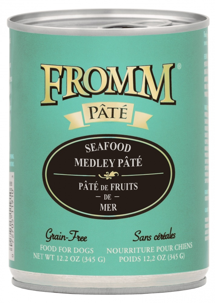 Fromm Grain Free Seafood Medley Pate Canned Dog Food, 12.2-oz