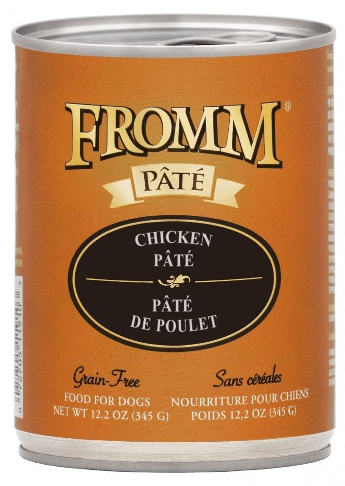Fromm Pate Grain-Free Chicken Pate Canned Dog Food, 12.2-oz, case of 12