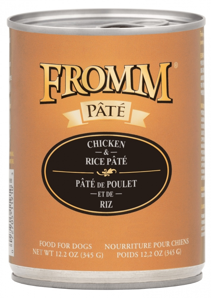 Fromm Chicken & Rice Pate Canned Dog Food, 12.2-oz, case of 12