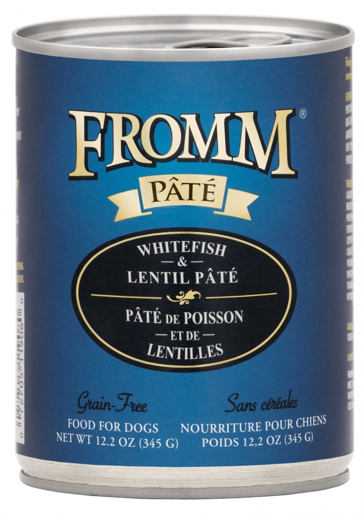 Fromm Grain Free Whitefish & Lentil Pate Canned Dog Food, 12.2-oz, case of 12