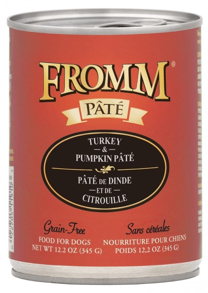 Fromm Grain Free Turkey & Pumpkin Pate Canned Dog Food, 12.2-oz