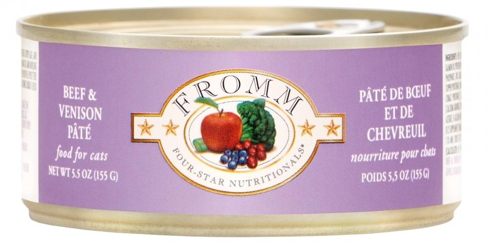 Fromm Four Star Beef & Venison Pate Canned Cat Food, 5.5-oz