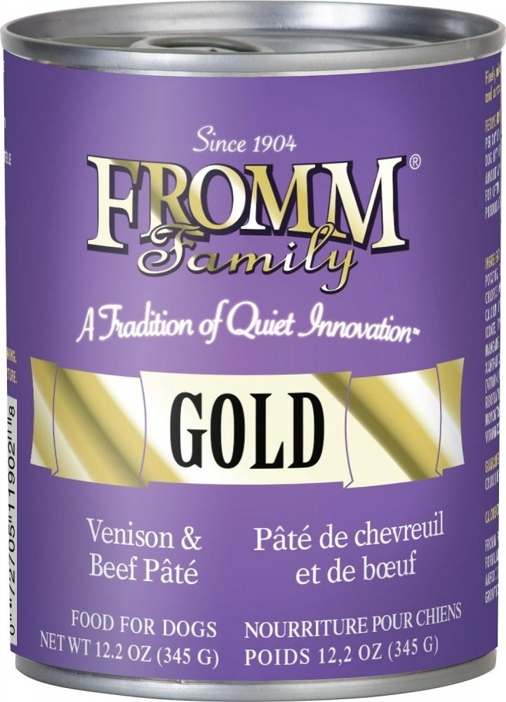 Fromm Gold Venison and Beef Pate Canned Dog Food, 12.2-oz