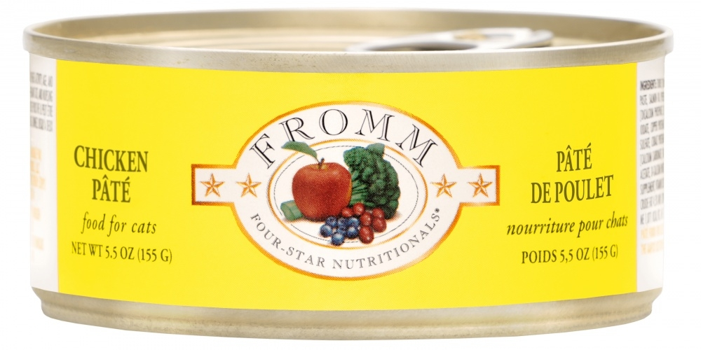 Fromm Four Star Grain Free Chicken Pate Canned Cat Food, 5.5-oz