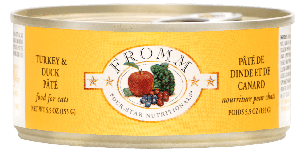 Fromm Four Star Grain Free Turkey and Duck Pate Canned Cat Food, 5.5-oz