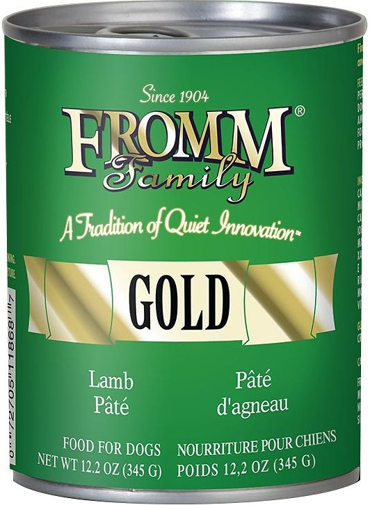 Fromm Gold Lamb Pate Canned Dog Food, 12.2-oz