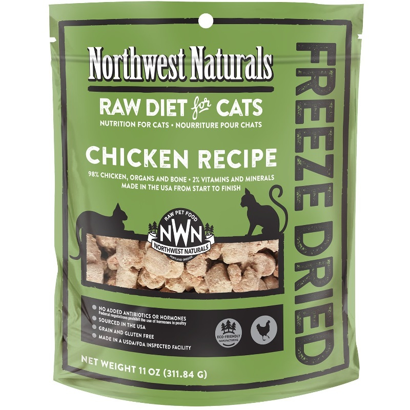 Northwest Naturals Raw Diet Grain-Free Chicken Nibbles Freeze Dried Cat Food 11-oz
