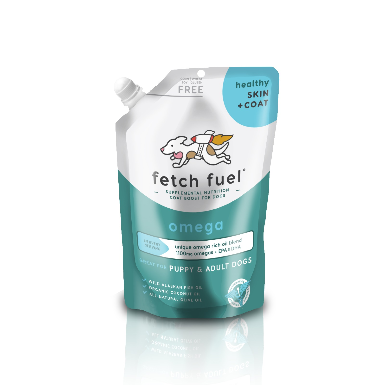 Presidio Fetch Fuel Omega Skin + Coat Supplement for Dogs, 12.5-oz