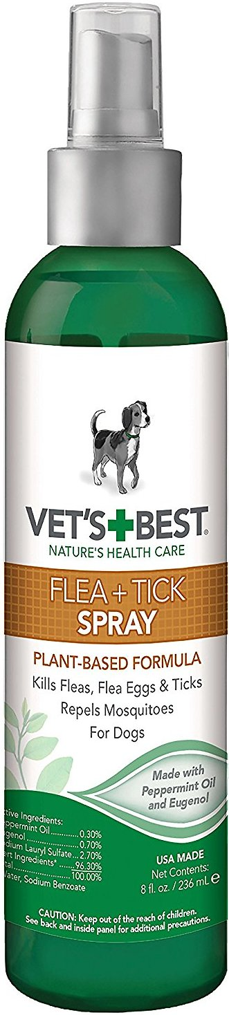 Vet's Best Flea + Tick Spray for Dogs, 8-oz bottle