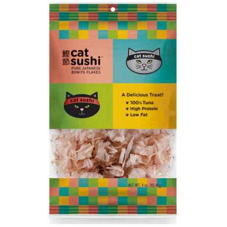 Presidio Cat Sushi Bonito Flakes Classic Cut Cat Treats, 0.7-oz