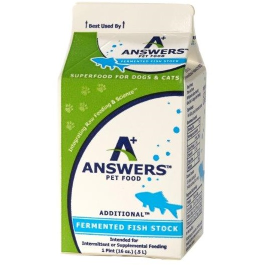 Answers Additional Fermented Fish Stock for Dogs & Cats, 1-qt)