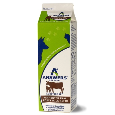 Answers Additional Fermented Raw Cows Milk Kefir for Cats & Dogs