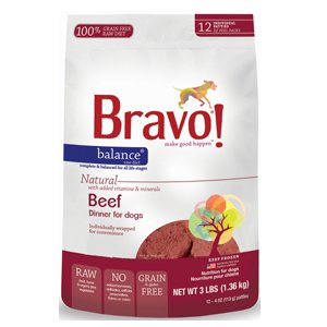 Bravo Balance 4z Beef Patties Raw Frozen Dog Food