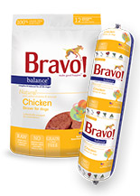 Bravo Balance Chicken Chub Roll Raw Frozen Dog Food