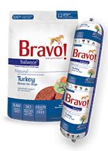 Bravo Balance Turkey Chub Roll Raw Frozen Dog Food