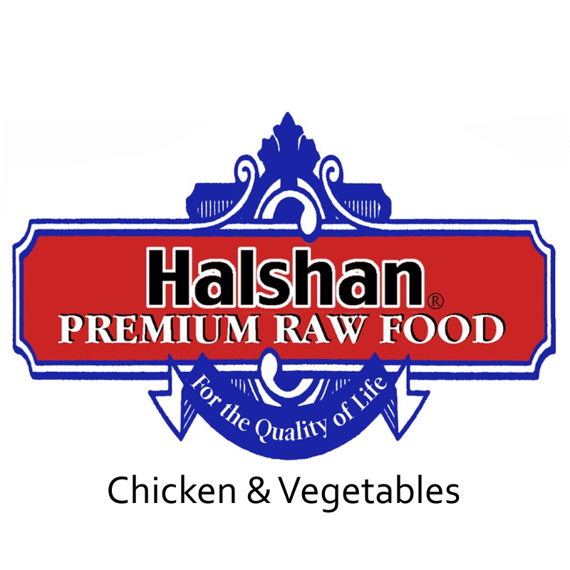 Halshan Chicken & Vegetables Raw Frozen Dog Food Size: 1lbs