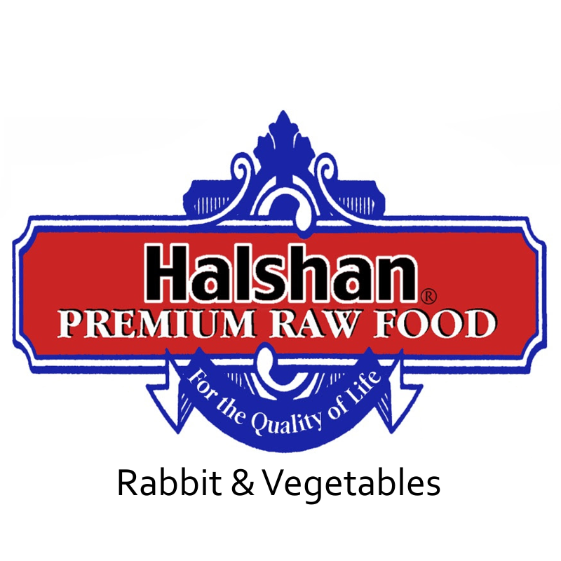 Halshan Rabbit & Vegetables Raw Frozen Dog Food
