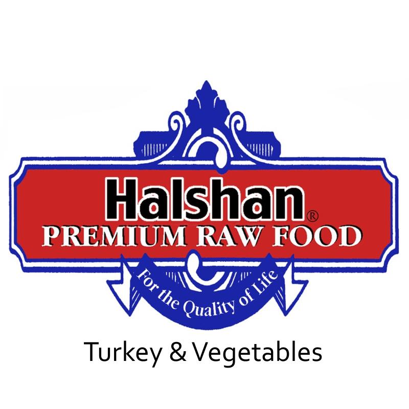 Halshan Turkey & Vegetables Raw Frozen Dog Food
