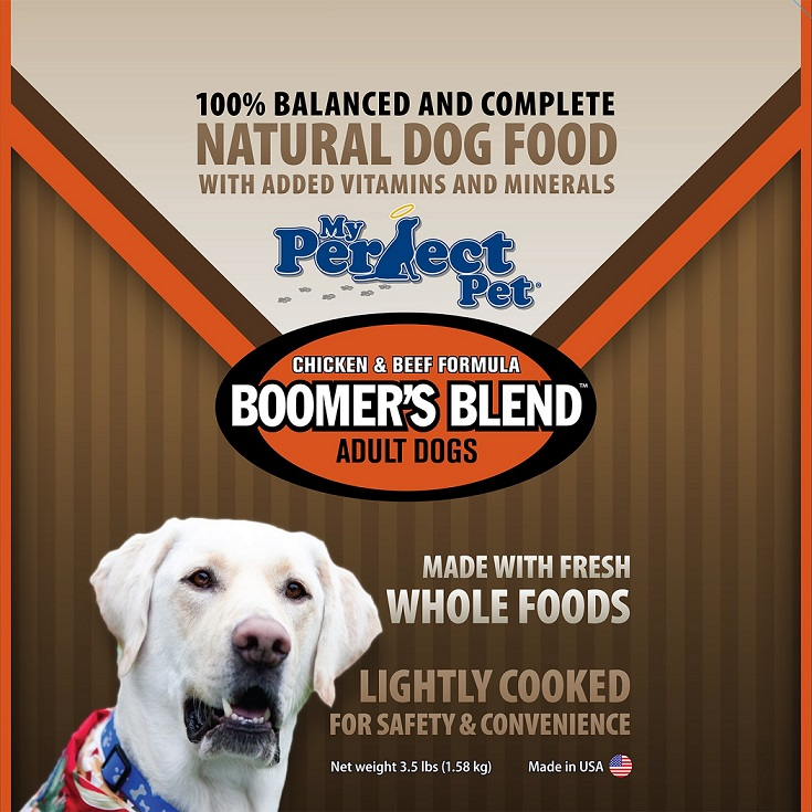 My Perfect Pet Boomer's Blend Chicken & Beef Frozen Dog Food