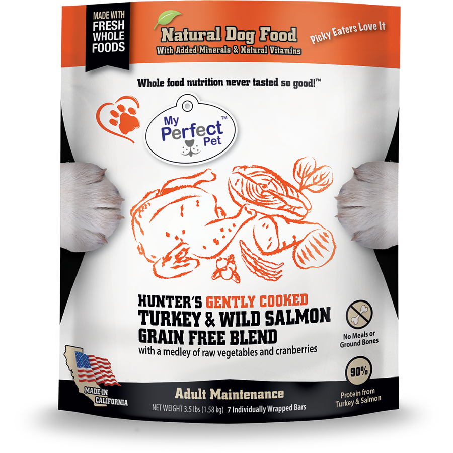 My Perfect Pet Hunter's Turkey & Salmon Blend Grain-Free Frozen Dog Food, 3.5-lb