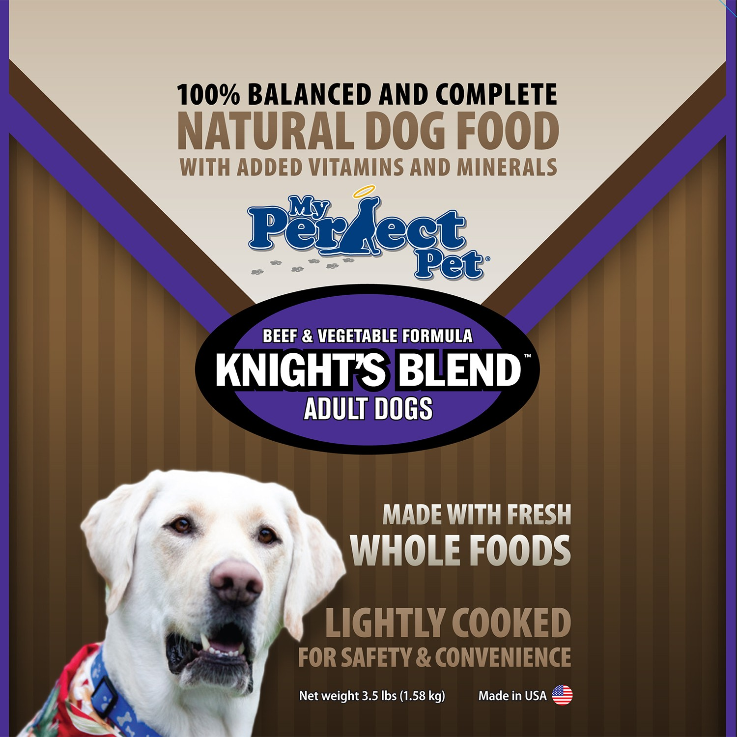 My Perfect Pet Grain-Free Knight's Blend Beef Frozen Dog Food