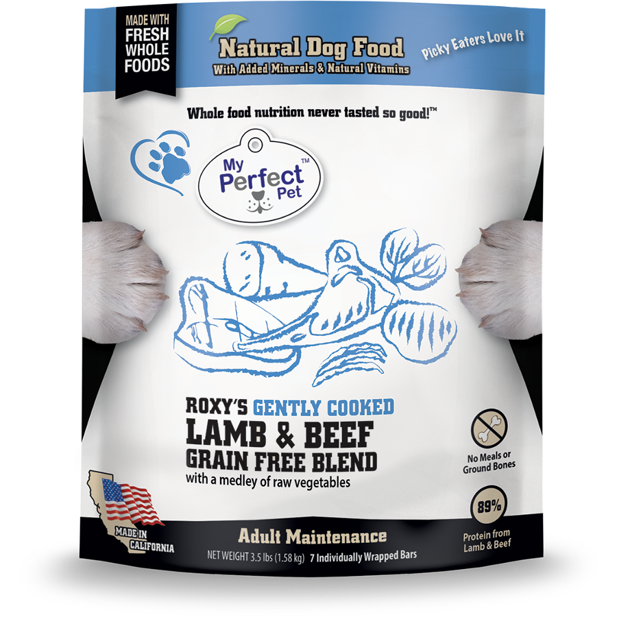 My Perfect Pet Roxy's Blend Lamb & Beef Blend Grain-Free Frozen Dog Food, 3.5-lb