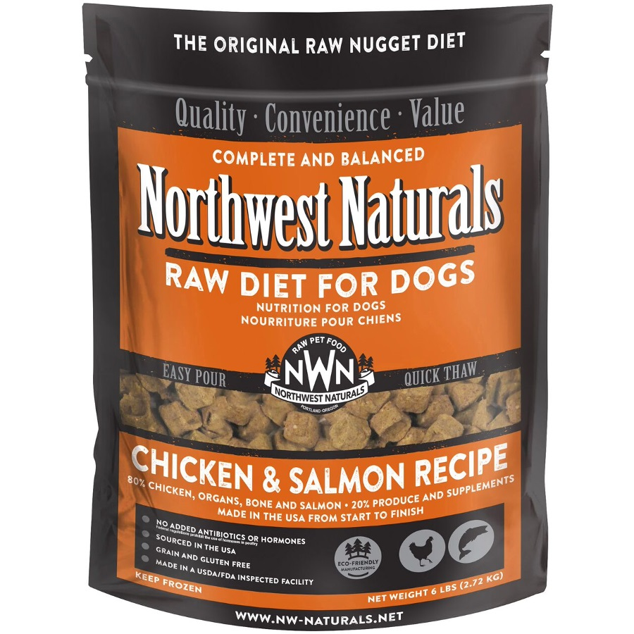 Northwest Naturals Raw Diet Grain-Free Chicken & Salmon Nuggets Raw Frozen Dog Food