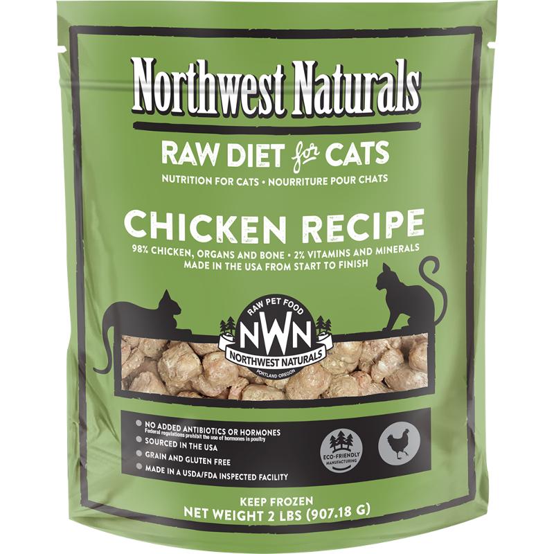 Northwest Naturals Raw Diet Grain-Free Chicken Nibbles Raw Frozen Cat Food