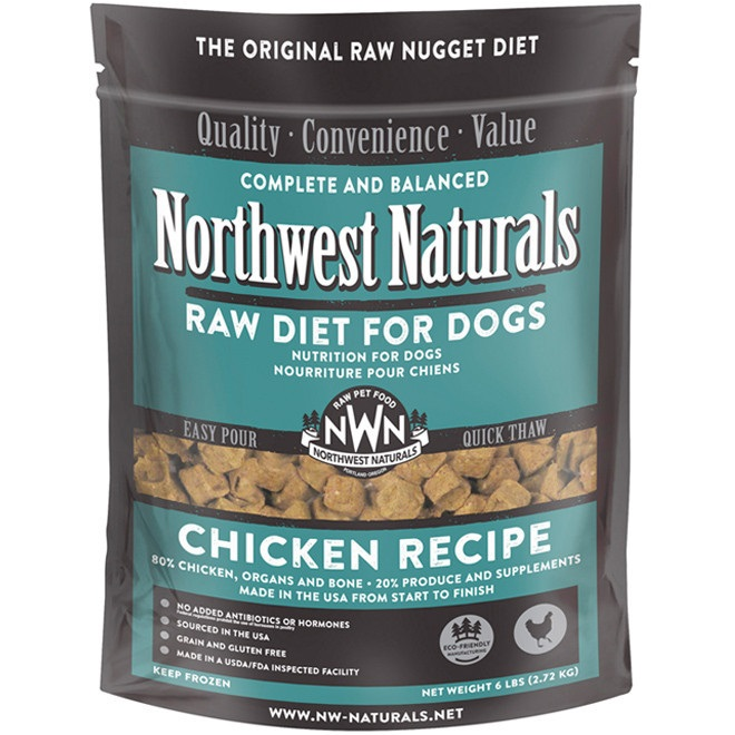 Northwest Naturals Raw Diet Grain-Free Chicken Nuggets Raw Frozen Dog Food