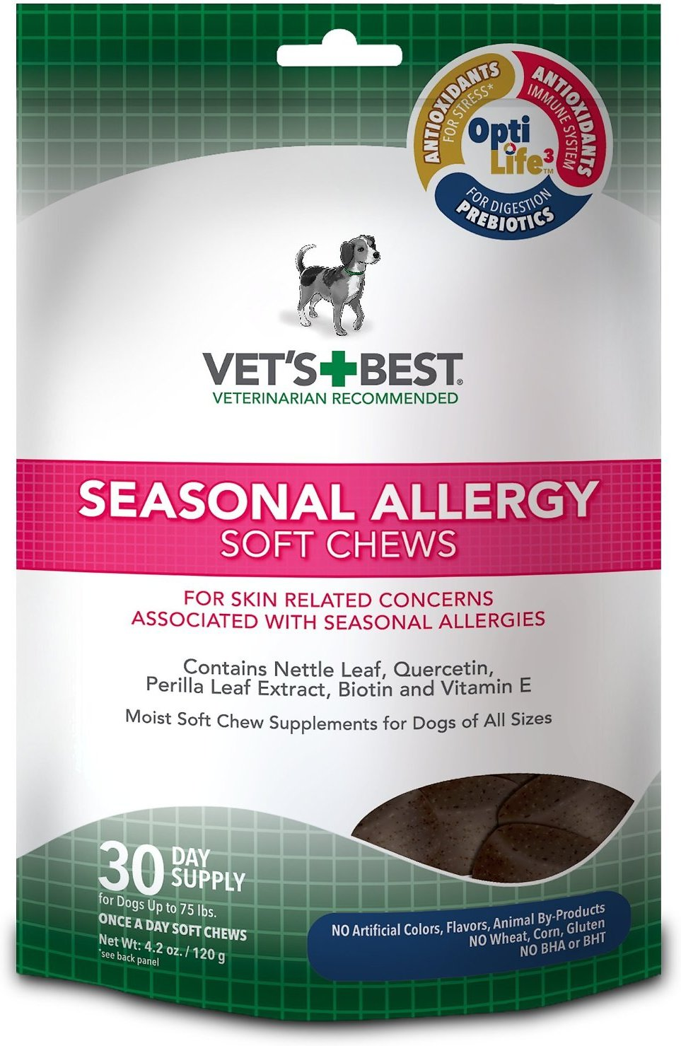 Vet's Best Seasonal Allergy Soft Chews Dog Supplement, 30 count