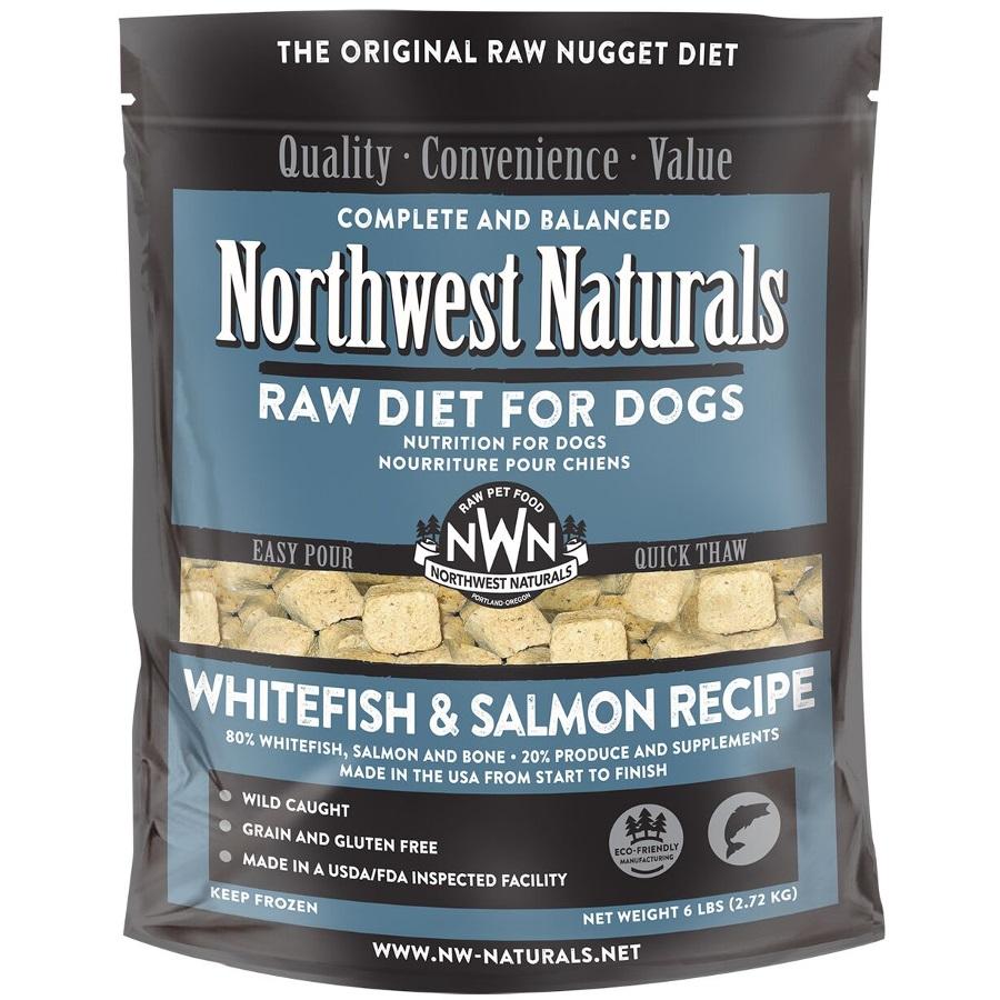 Northwest Naturals Raw Diet Grain-Free Whitefish & Salmon Nuggets Raw Frozen Dog Food