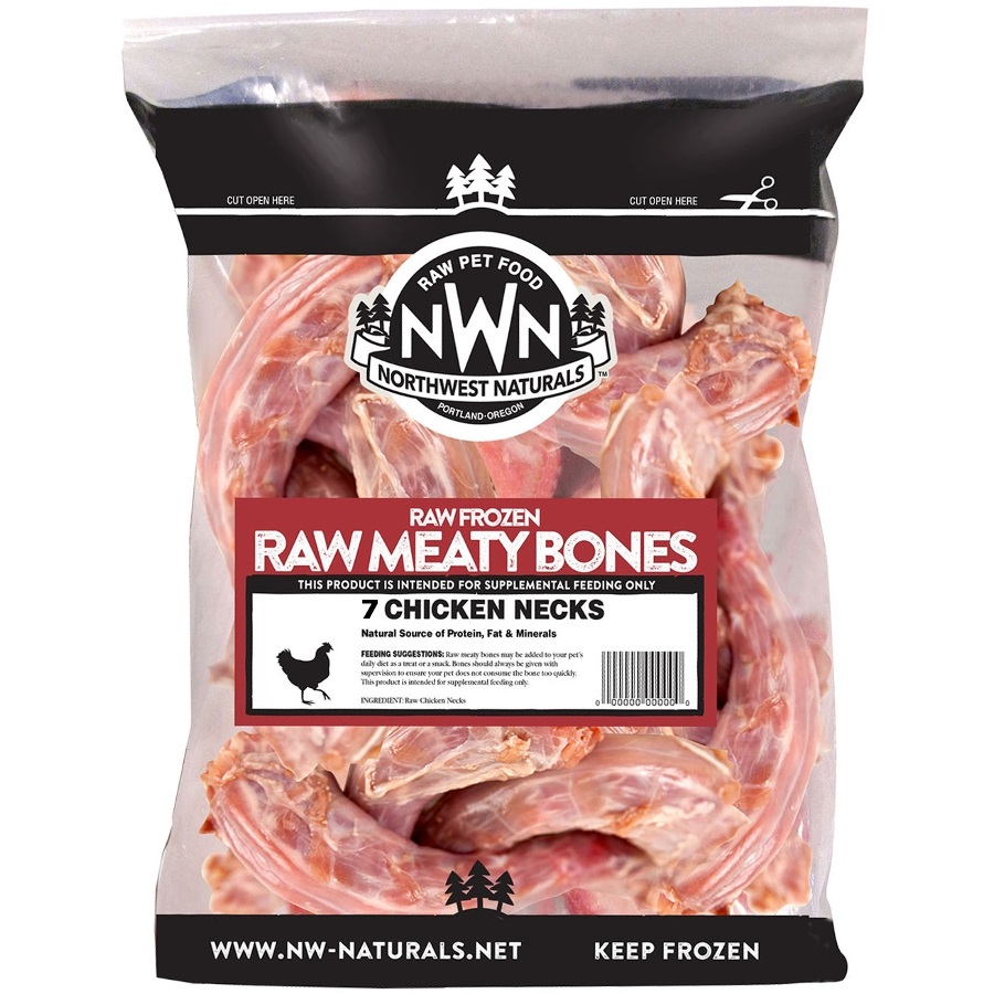 Northwest Naturals 'Raw Meaty Bones' Chicken Neck Bone Raw Frozen Dog Treat