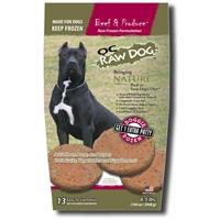 OC Raw Dog Beef & Produce Patties Raw Frozen Dog Food