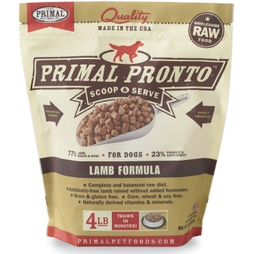 Primal Pronto Raw Lamb Formula Raw Frozen Dog Food