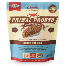 Primal Pronto Raw Rabbit Formula Raw Frozen Cat Food Image