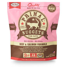 Primal Raw 1z Nuggets Beef & Salmon Formula Raw Frozen Cat Food Image