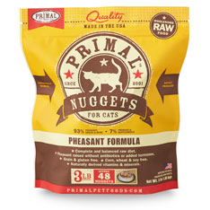 Primal Raw 1z Nuggets Pheasant Formula Raw Frozen Cat Food Image