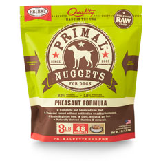 Primal Raw 1z Nuggets Pheasant Formula Raw Frozen Dog Food Image