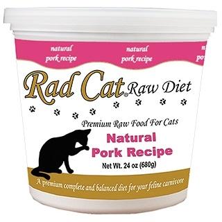 Rad Cat Free Natural Pork Recipe Grain-Free Raw Frozen Cat Food