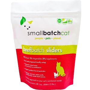 Small Batch Cat Beef Batch 1-oz Sliders Raw Frozen Cat Food, 3-lb