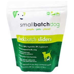 Small Batch Dog Duck Batch 1-oz Sliders Raw Frozen Dog Food, 3-lb